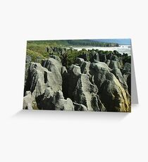 Pancake Rocks at Punakaiki Greeting Card