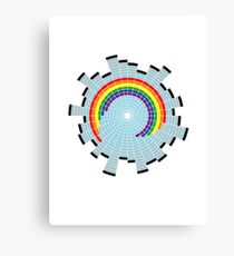 Rainbow Web Wheel Canvas Print