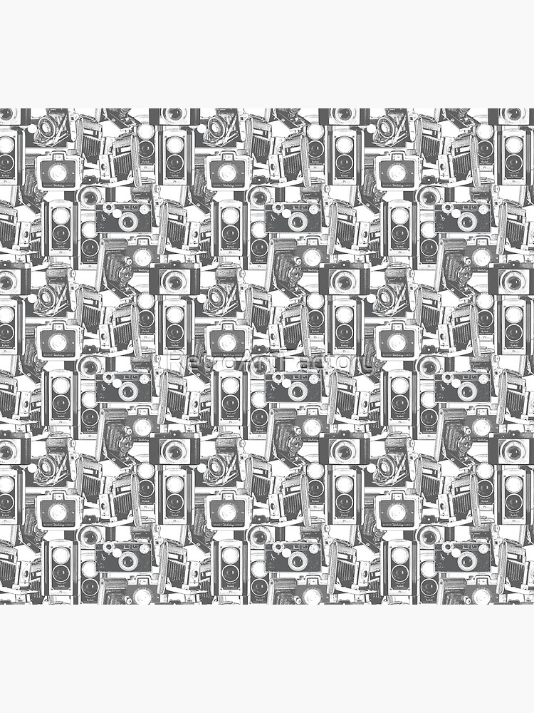 Vintage Camera Pattern #1 by RetroArtFactory