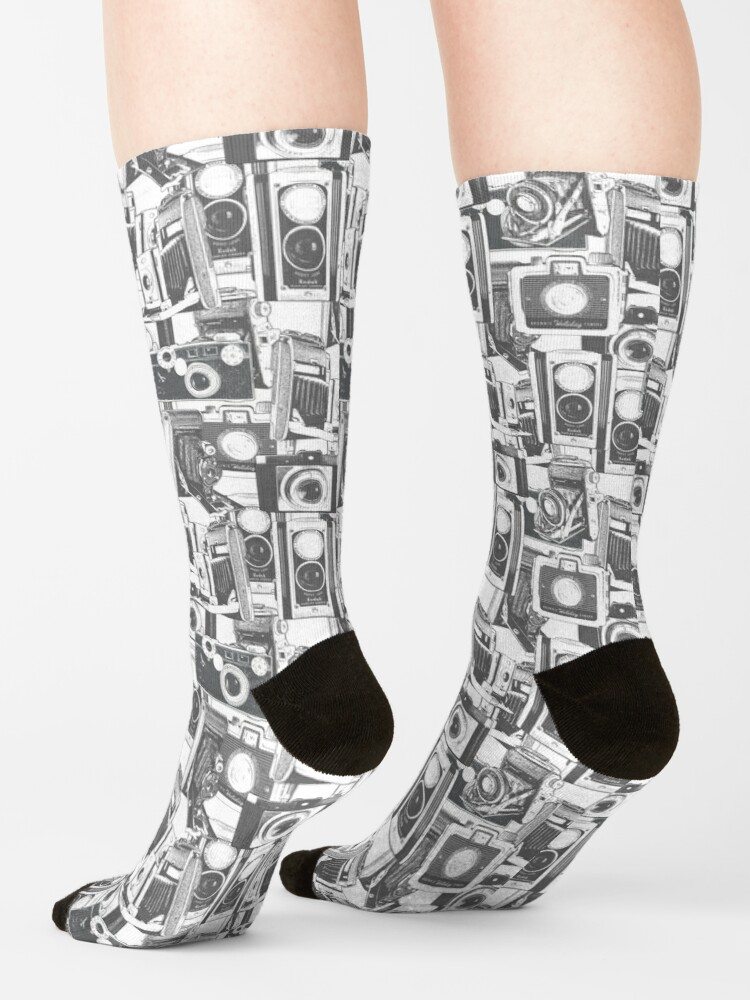 Alternate view of Vintage Camera Pattern #1 Socks
