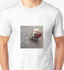 Snail on the gardenseat Unisex T-Shirt