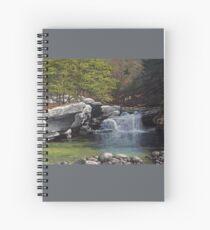 """Bartlett's Falls"" Bristol Vermont painting by Reed Prescott Spiral Notebook"