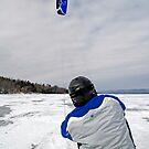 Kite Skiing - Ottawa River by Debbie Pinard
