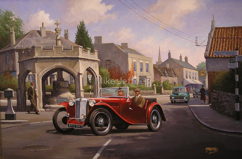 MG TC sports car. by Mike Jeffries