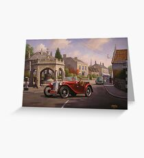 MG TC sports car. Greeting Card