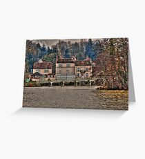 Homes along Seine River in French Countryside Greeting Card