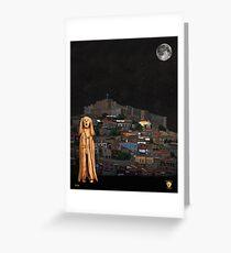 The Scream World Tour Molyvos Lesvos Greece Greeting Card