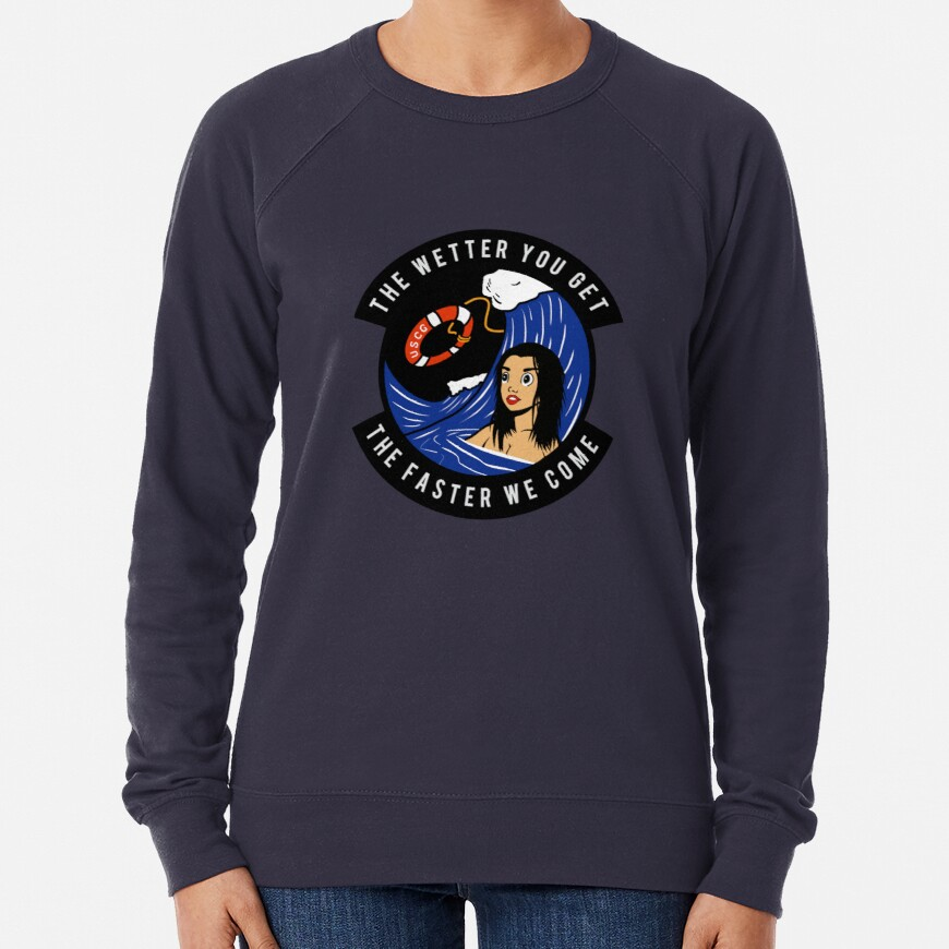 USCG - The Wetter You Get The Faster We Come Lightweight Sweatshirt