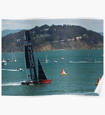 """USA Wins the America's Cup"" Poster"