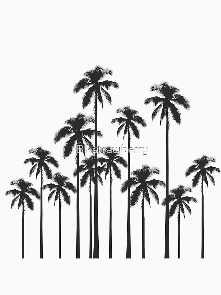 Exotische tropische Schwarzweiss-Palmen von Blkstrawberry