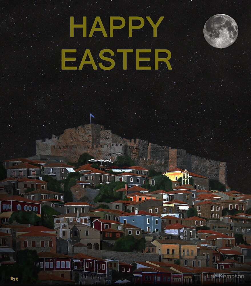 The Scream World Tour Molyvos Moonlight Happy Easter by Eric Kempson