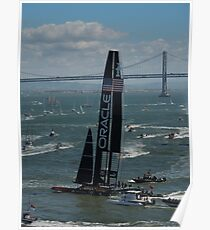 """""""The USA Oracle wins the America's Cup"""" Poster"""