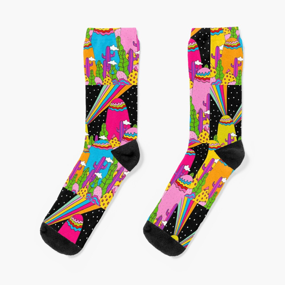 Night Sky Rainbow Socks