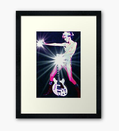 I am Tired of Pretending I'm Not a Total, Bitchin Rock Star from Mars Framed Print