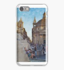 A stop in a hard day in Rome iPhone Case/Skin