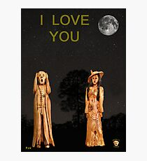 The Scream World Tour with Fashion I Love You Photographic Print