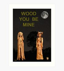 The Scream World Tour with Fashion Wood You Be Mine Art Print