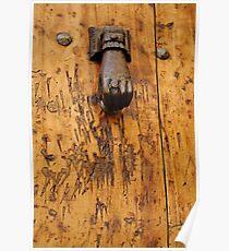 Hand doorknocker Poster