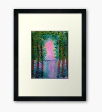 At Last I see the Light from the Foroest, watercolor Framed Print