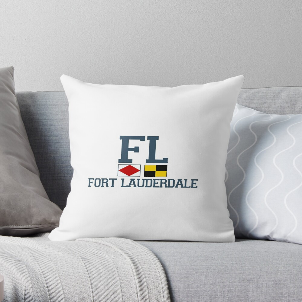 Fort Lauderdale.  Throw Pillow