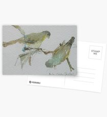 Green Finches Postcards