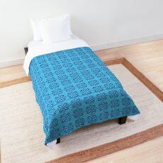 Aqua Moroccan inspired tile Comforter