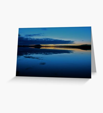 Nightfall  - Gallo . Sweden . by Brown Sugar . Views (509) . Vavs (2) . has been FEATURED in Lakes & Inland Waterways ! Greeting Card