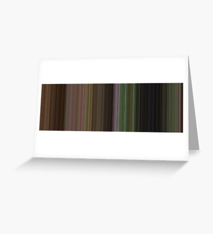 Moviebarcode: The Wizard of Oz (1939) [Simplified Colors] Greeting Card