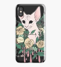 Light Floral Feline iPhone Case