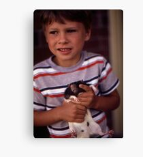 A Boy and His Pet Canvas Print