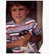 A Boy and His Pet Poster
