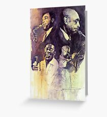 Jazz Legends Parker Gillespie Armstrong  Greeting Card