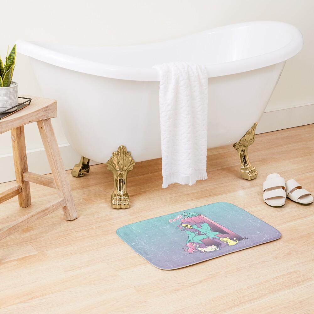 Skelemeow! Bath Mat