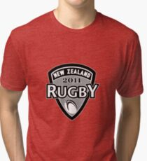New Zealand rugby world cup 2011 ball shield Tri-blend T-Shirt