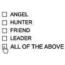Castiel Checklist by JasperSteel