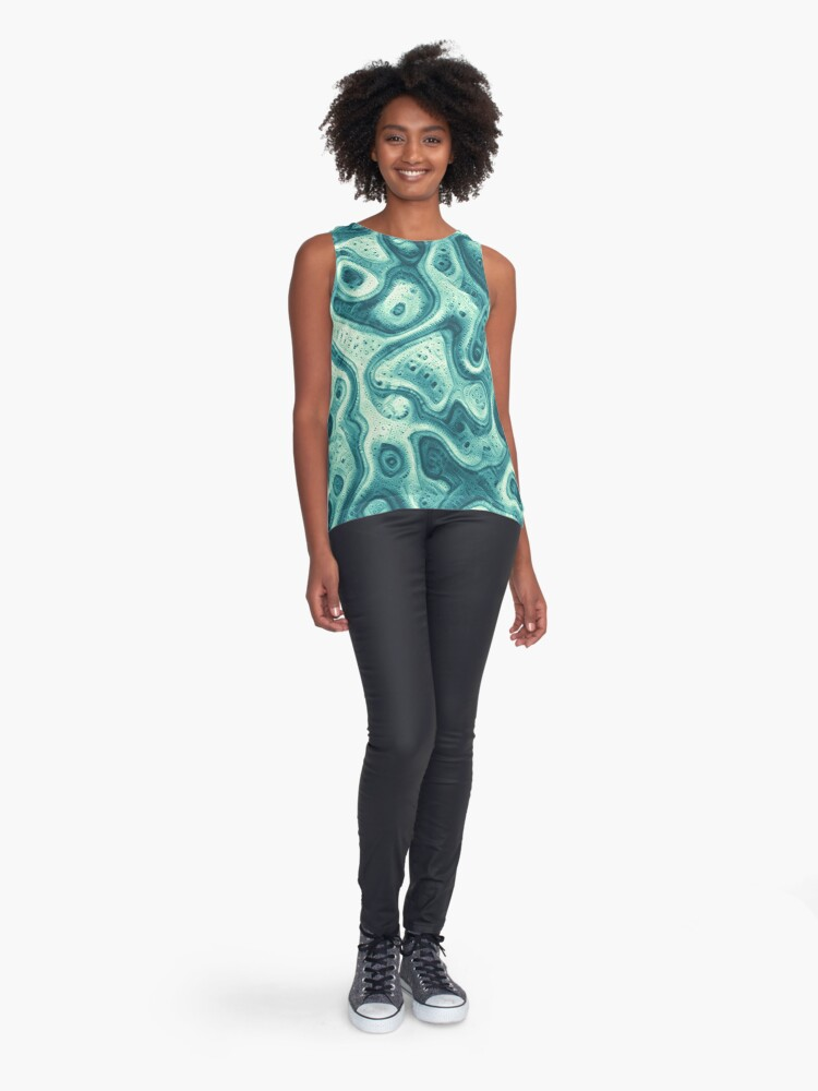 Alternate view of #DeepDream abstraction Sleeveless Top