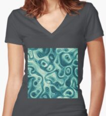 #DeepDream abstraction Fitted V-Neck T-Shirt