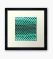 Sea Foam Scales Framed Print