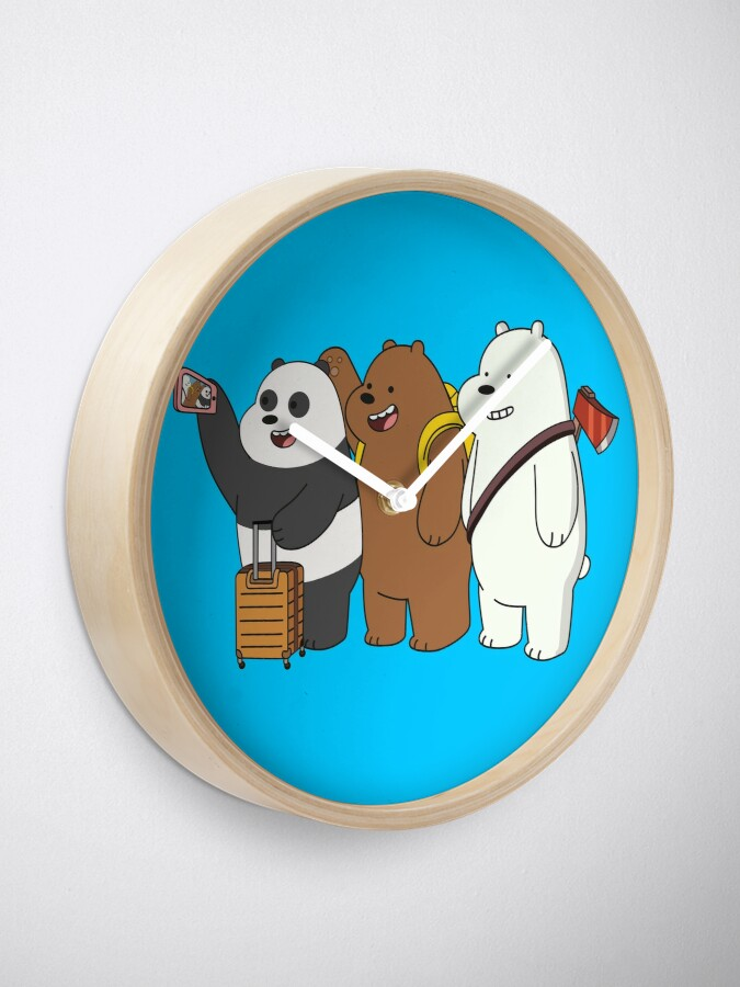 Alternate view of We Bare Bears Clock