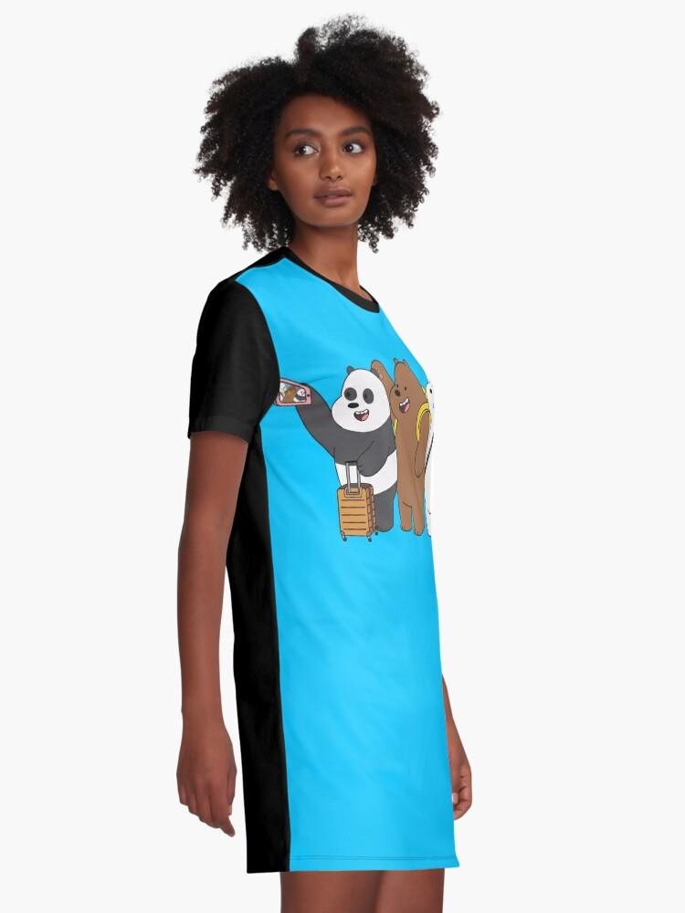 Alternate view of We Bare Bears Graphic T-Shirt Dress