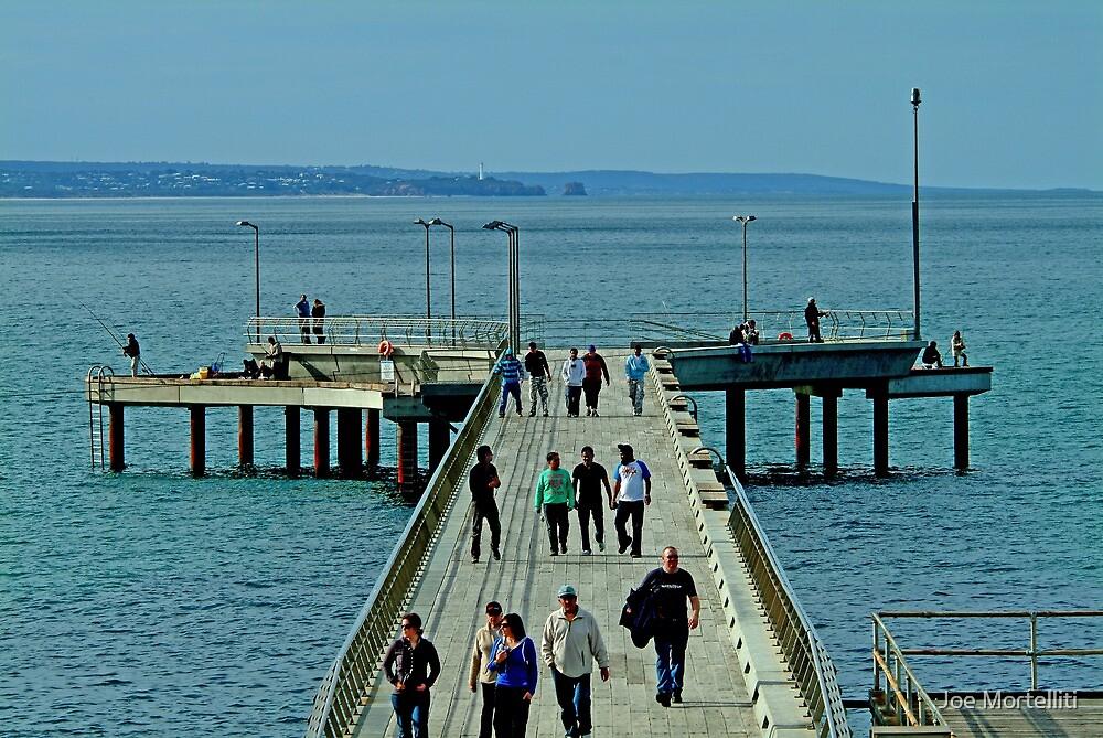 On the Pier by Joe Mortelliti