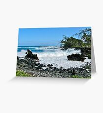 Keanae Point III Greeting Card