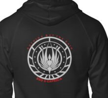 Nothing But The Rain Rebel Fleet Group Design Zipped Hoodie