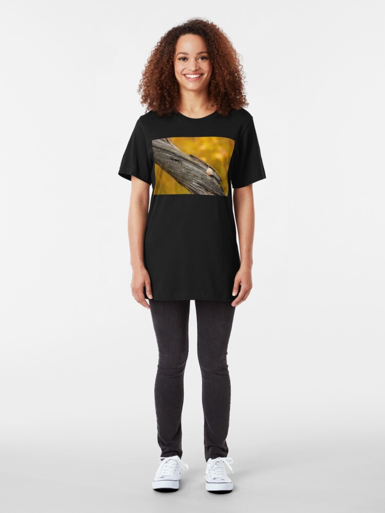 Alternate view of Leaf on dead tree in autumn forest Slim Fit T-Shirt
