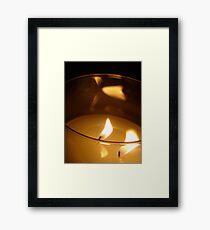 Twin Flames Framed Print