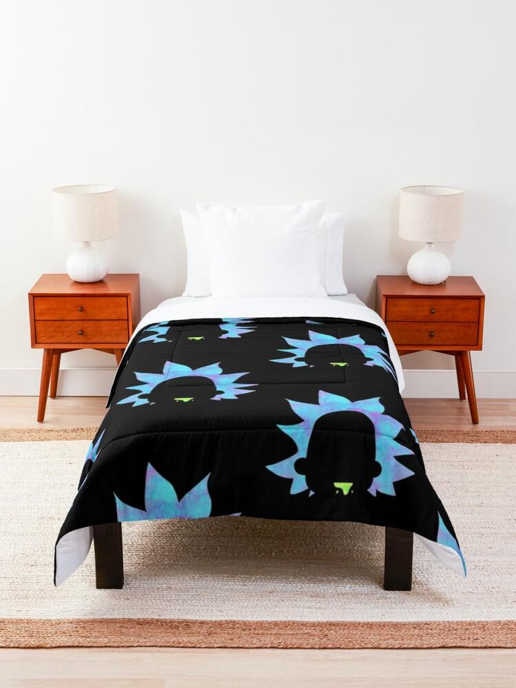 Alternate view of Rick Sanchez silhouette  Comforter