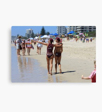Our Future Lifeguards on the Gold Coast Canvas Print