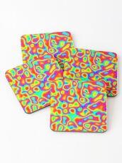 Rainbow Chaos Abstraction II Coasters