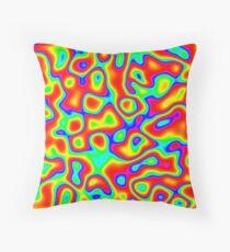Rainbow Chaos Abstraction II Throw Pillow