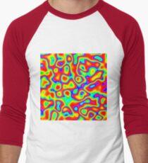 Rainbow Chaos Abstraction II Baseball ¾ Sleeve T-Shirt